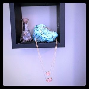 Double Strand Druzy Necklace